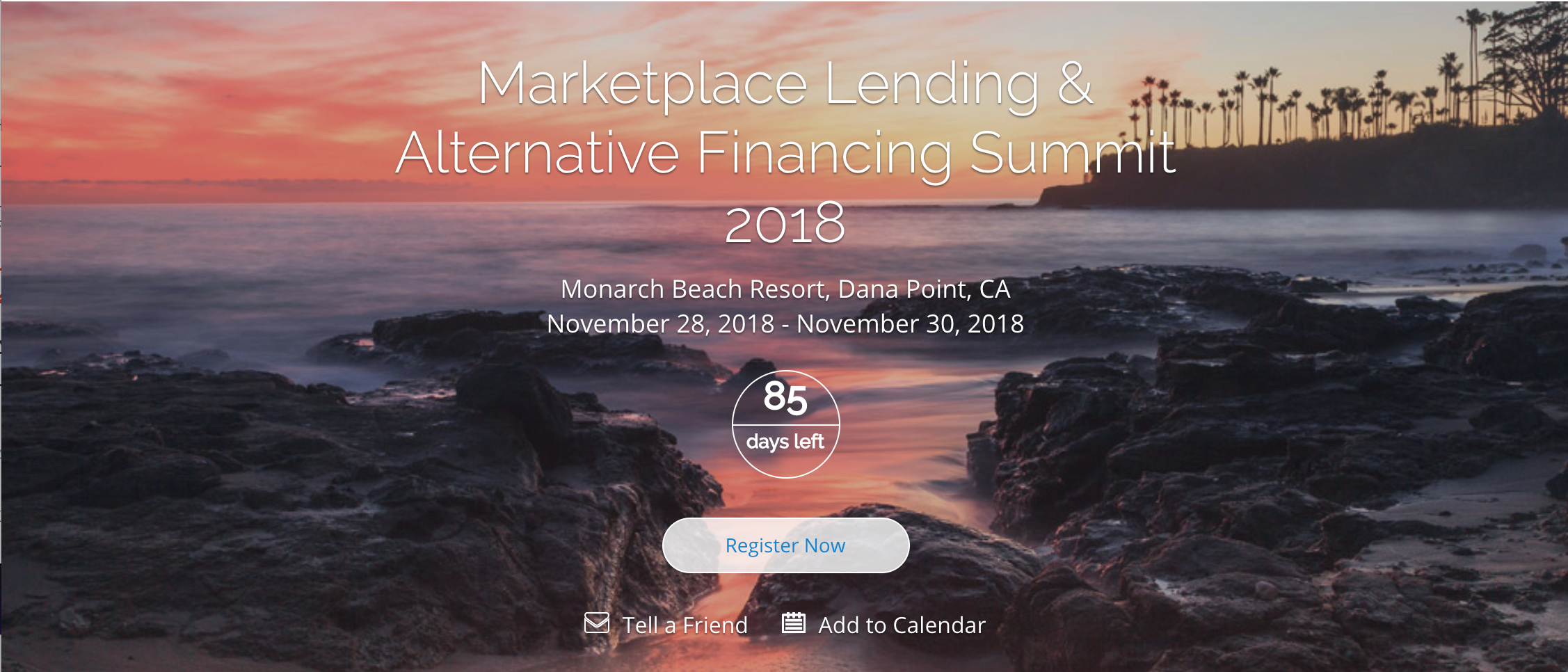 Marketplace Lending Alternative Financing Summit 2018 poster
