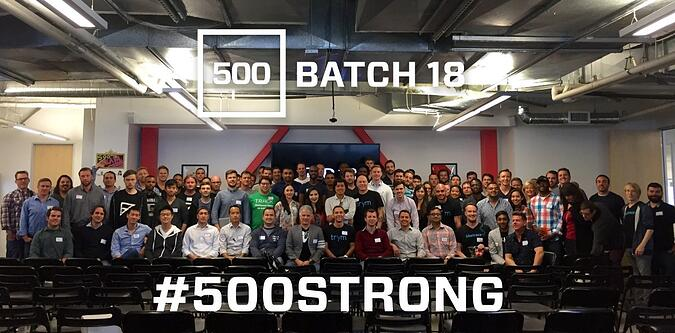 Startup 500 Batch 18 group photo